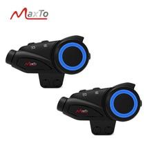 2pcs Maxto M3 Waterproof 6Riders Motorcycle Bluetooth WIFI Video Recorer Helmet Intercom Interphone with HD Sony 1080P Lens DVR