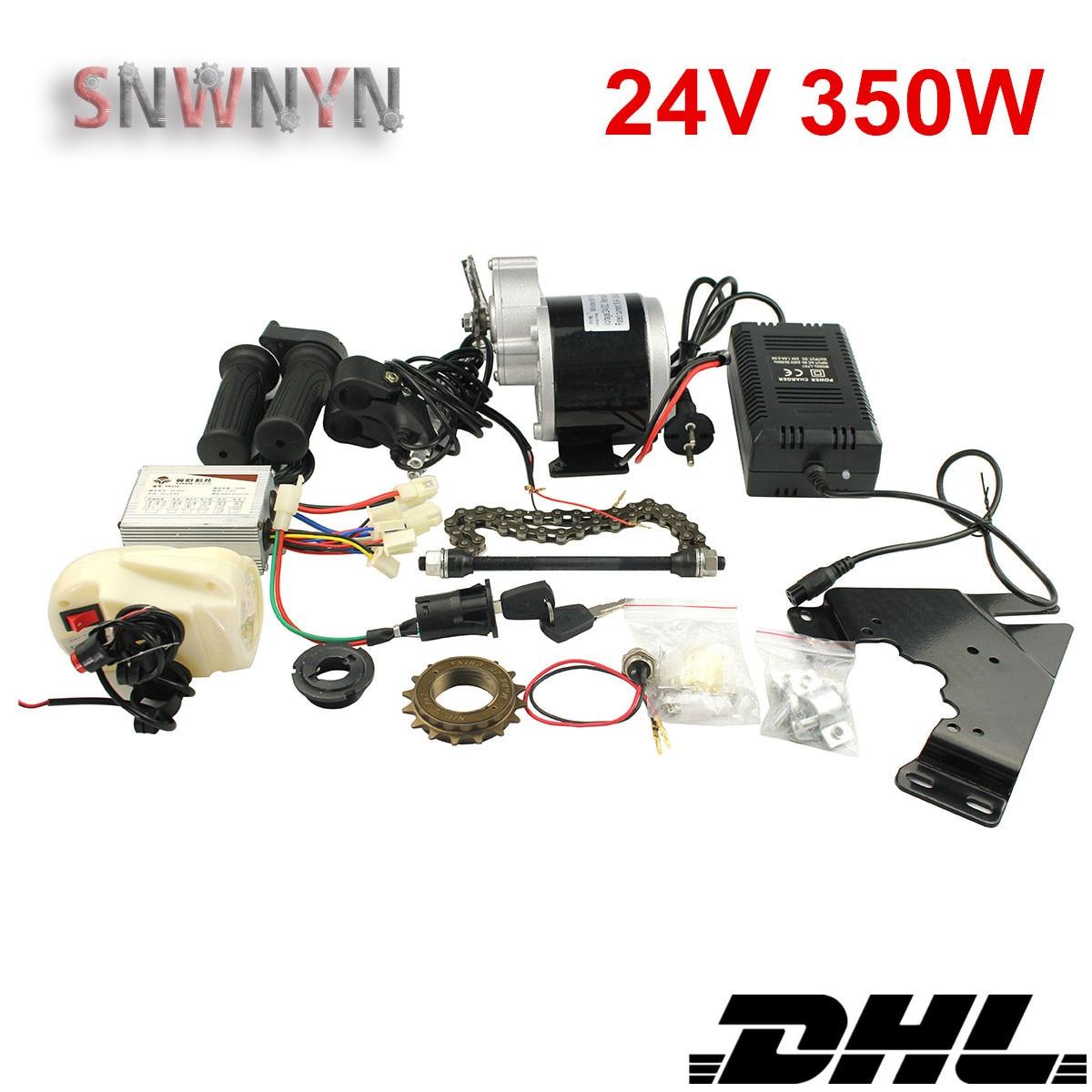 E-Bike Conversie Kit 24V 350W Elektrische Fiets Motor Conversie Kit Voor Variabele Road/Mountain Fiets MY1016Z2