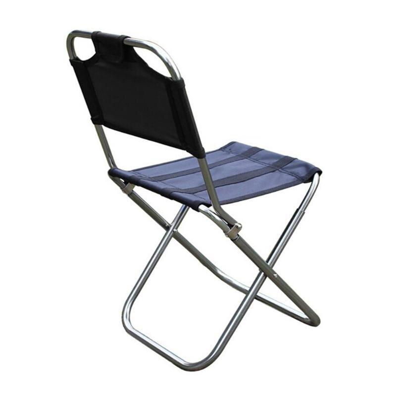 Silla plegable al aire libre, silla de Pesca 7075 de aleación de aluminio para acampar, taburete plegable para barbacoa, silla de viaje portátil, aparejos de Pesca