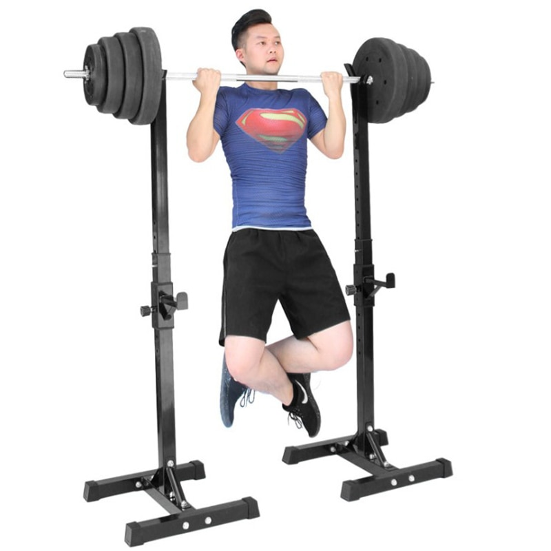 Squat Rack Barbell Bracket Weight Benches Press Rack Brazer Stand Adjustable Multifunctional Weightlifting Bed Fitness Machine