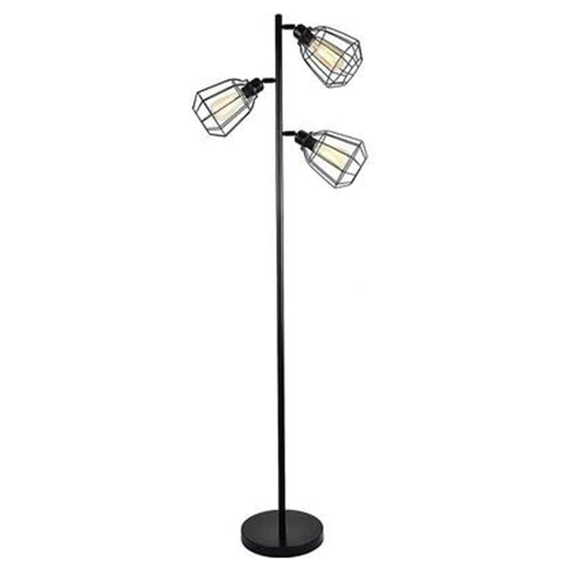 Industrial Floor Lamp,Adjustable Halter, Floor Lamp for Living Room, Bedroom, Office, Country Home(US Plug)