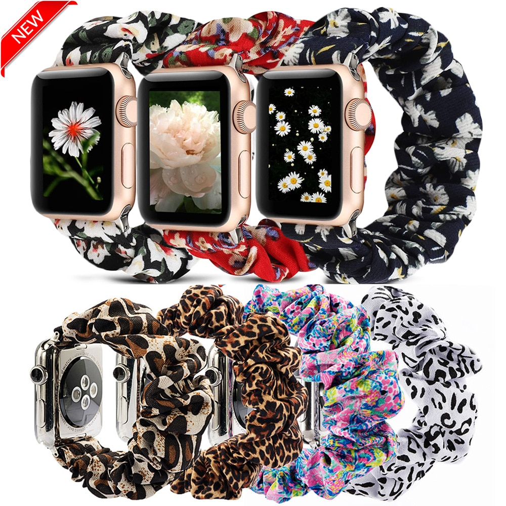 AliExpress - Scrunchie Elastic Watch Straps Watchband for Apple Watch Band Series 6 5 4 3 38mm 40mm 42mm 44mm for iwatch Strap Bracelet 6 5 4
