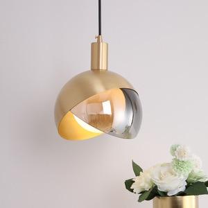 Modern Glass Pendant Lights Fixture Bedside Creative Round Ball Bedroom Hanging Lamp Luminaire Kitchen Decoration Led Lighting