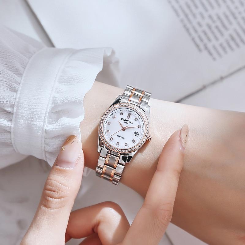 CARNIVAL Top Brand Ladies Fashion Gold Watch Woman Luxury Waterproof Calendar Business Casula Quartz Wristwatch Relogio Feminino enlarge