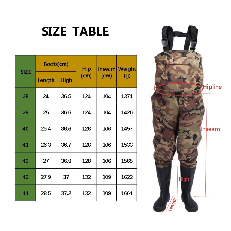 Fly Fishing Chest Waders Clothes Waterproof Breathable Stocking Foot River Wader Pants for Men and Women no-Slip Shoes Boots enlarge