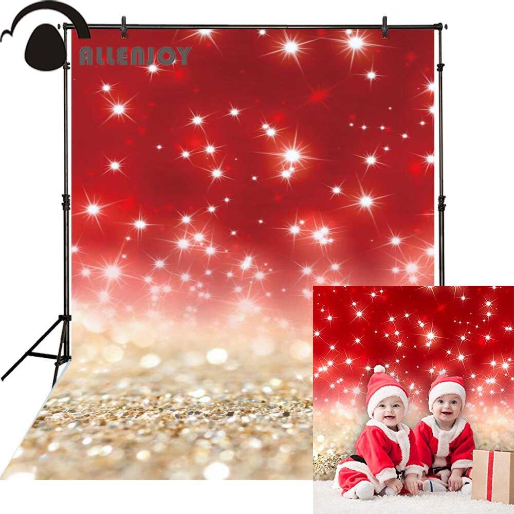 Allenjoy рождественские декорации, чистый цвет, блестящий красный боке, великолепные вечерние декорации, Фотофон, Фотофон