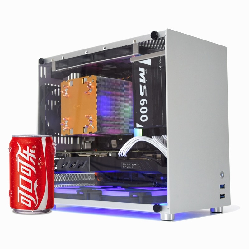METALFISH S5 Aluminum Computer Case Gaming PC Chassis for microATX/itx 24.5*24.5CM mainboard/SFX pow