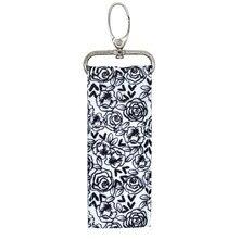 Mükemmel depolama ruj tutucu kılıf çanta anahtarlık baskı anahtarlık hediye kız çapraz desenleri dudak balsamı yüzük tuşları Chapstick