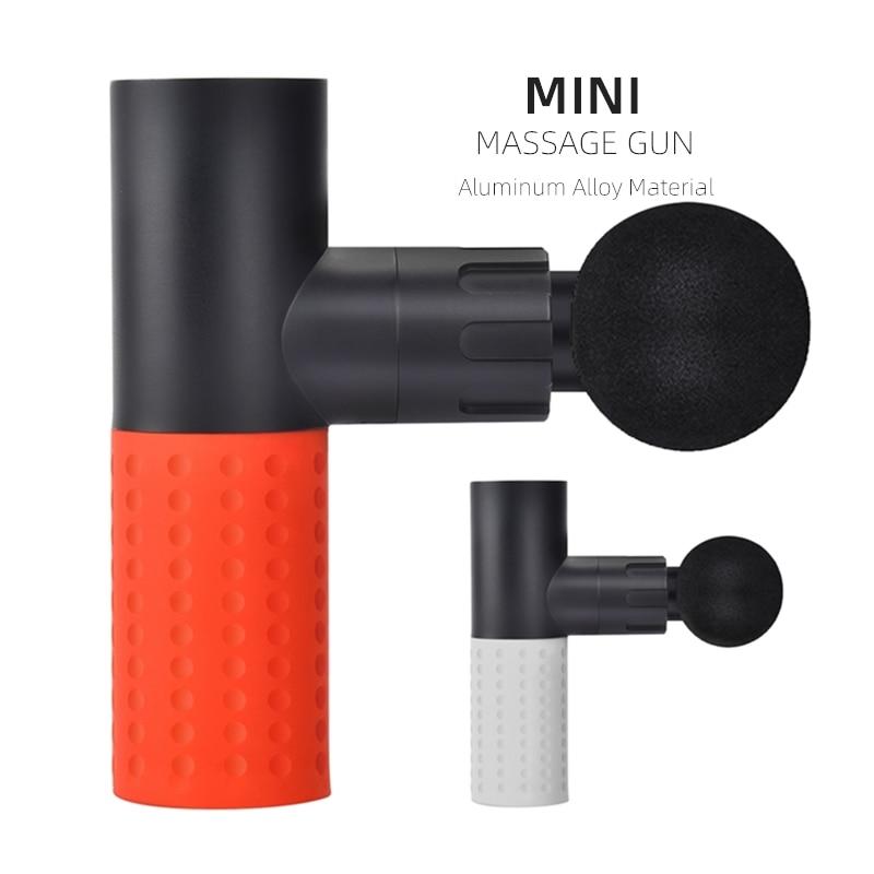 Mini pistola eléctrica de masaje muscular, masajeador para terapia del dolor, masaje corporal, relajación dolor alivio con Material de aleación de aluminio
