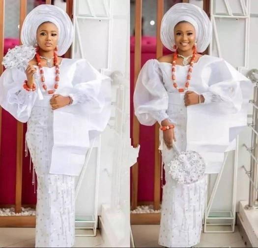 فستان سهرة نيجيري للنساء ، مقاس كبير ، ياقة على شكل V ، أكمام طويلة ، شرابات ، حورية البحر ، ترتر ، فساتين حفلات