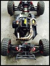 Tubo de escape de acero inoxidable para 1/5 Losi DBXL RCMK XCR camión Rc, piezas de coche