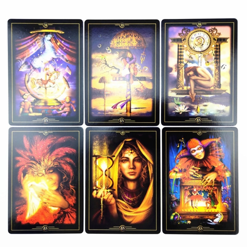 Oracle of Visions Full English 52 Cards Deck Tarot Family Party Divination Fate Board Game Astrology недорого