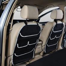 Autoyouth assento de carro volta organizador multi-bolso bolsa de armazenamento de viagem, crianças brinquedo de armazenamento, protetor de assento traseiro/kick esteira