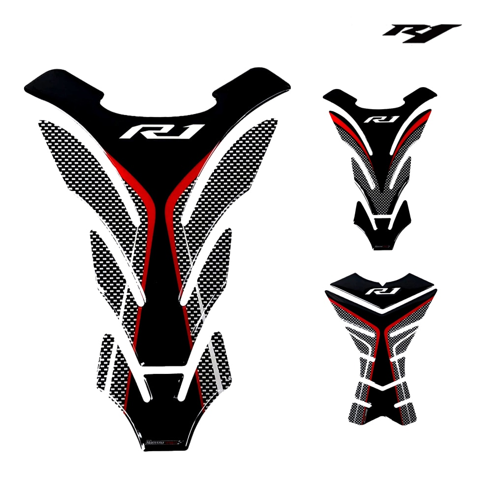 Motorcycle 3D rubber sticker emblem decal for yamaha YZF-R1 R1 Tank all years