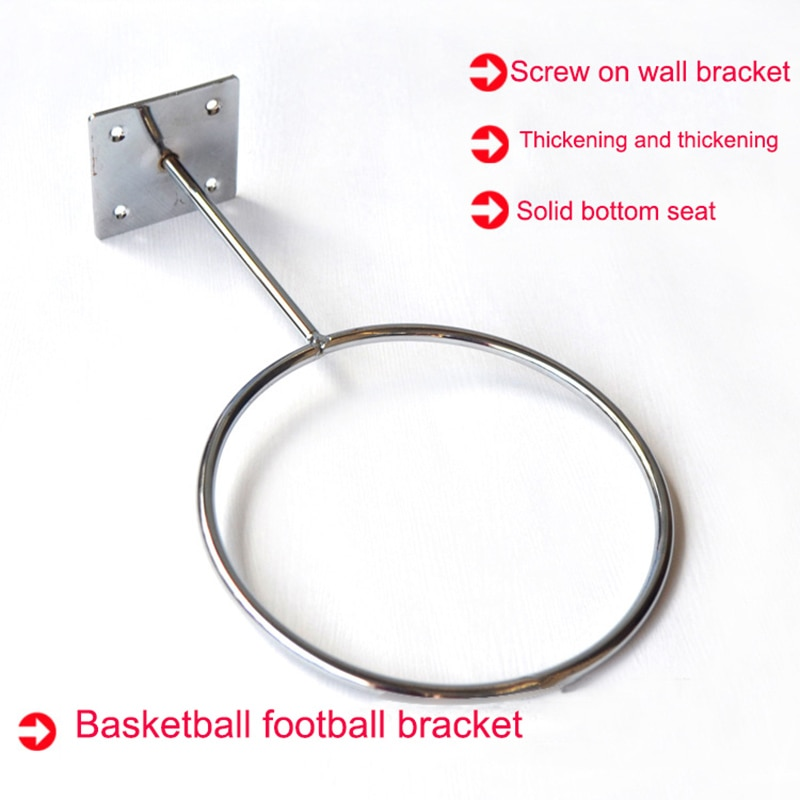 Suporte de montagem na parede suporte de futebol basketbal voleibol bola exibição rack armazenamento asd88