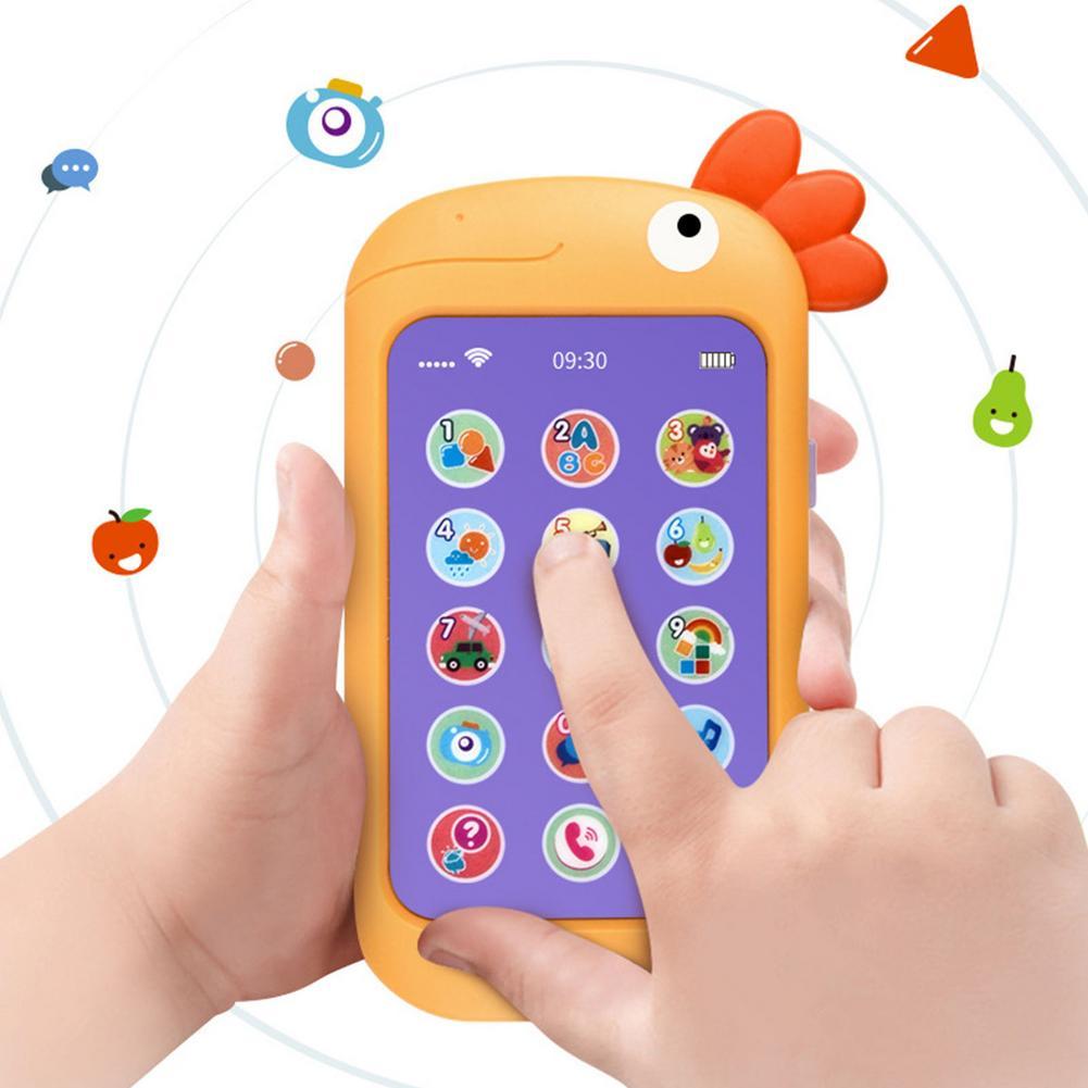 Новый детский Пеленальный Музыка мобильный телефон игрушки Моделирование телефон для раннего развития детей развивающая игрушка мобильны...