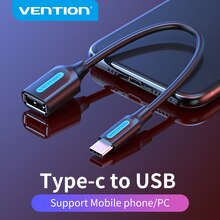 Vention USB C to USB OTG Cable Adapter USB Type C Male to USB 3.0 2.0 Female for Macbook Pro Samsung