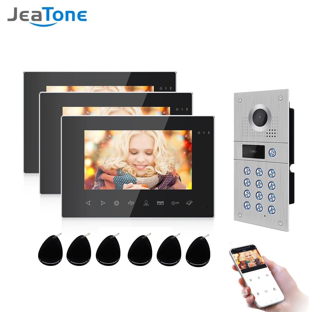 Jeatone-هاتف فيديو لاسلكي وواي فاي للمنزل ، واتصال داخلي بالفيديو ، واتصال داخلي بالفيديو ، واتصال داخلي بالفيديو ، وكشف الحركة ، وتسجيل الكامير...