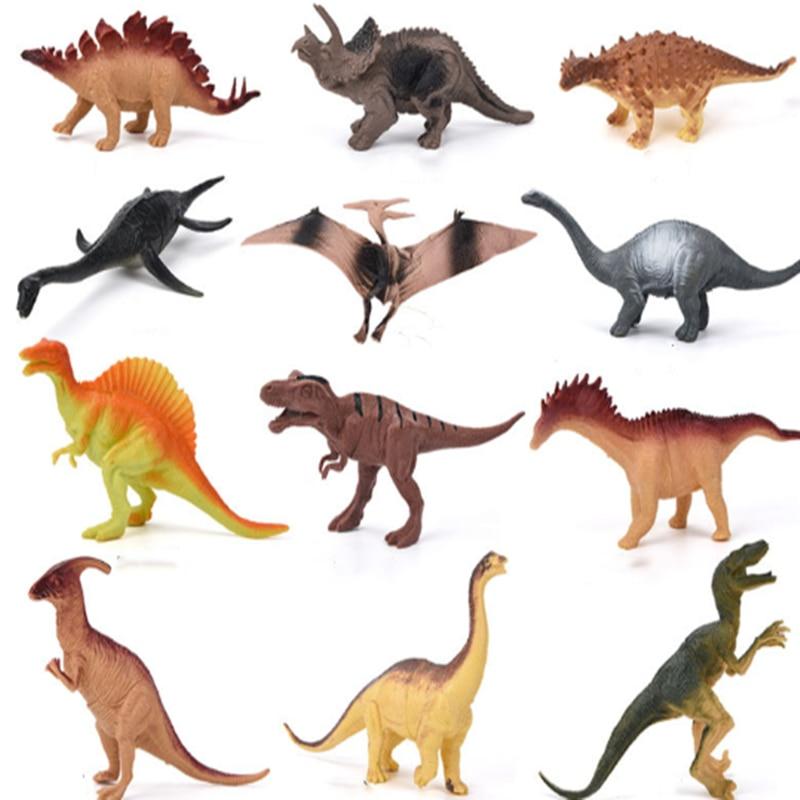 Agnicy grande macio 12-19cm plástico simulação dinossauro modelo brinquedo dinossauro brinquedo