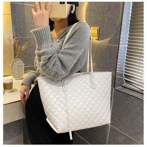 Large capacity rhombic women's shoulder bag 2020 new PU leather messenger bag travel bucket bag ladies handbag shopping bag