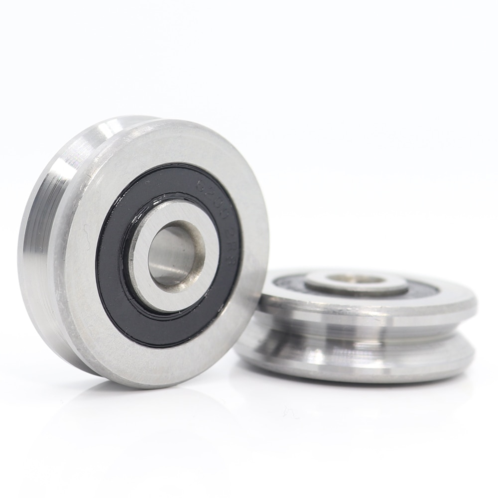 V Groove Sealed Ball Bearing (2PCS)  8*37*11*3 8*40*14 8*42*14 mm Pulley Wheel Bearings V7/6/9/7/6/3Guide Track Rlooer Bearing