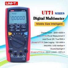 UNI-T UT71A UT71B UT71C UT71D UT71E Digitale MultiMeterTure RMS AC DC meter Volt Ampere Ohm Kapazität Temp tester hintergrundbeleuchtung