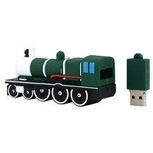 Pendrive de tren de la unidad de memoria USB personalizada 4 8 16 32 gb Pendrive de silicona USB 2,0 64 128 256 gb U tren de disco