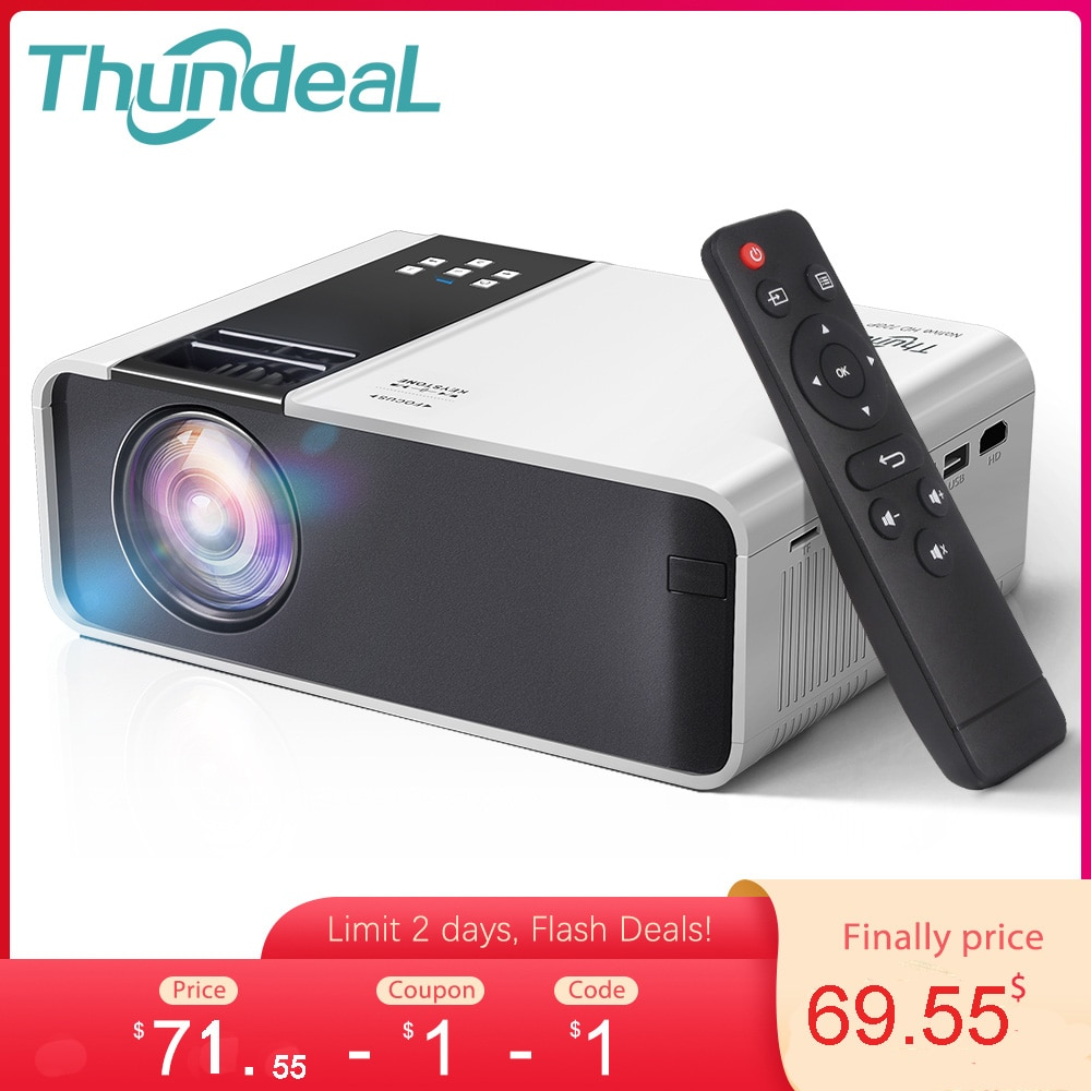 ThundeaL HD Mini Proyector TD90 nativa de 1280 x 720P LED Android...