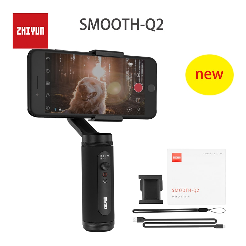 Cardán móvil ZHIYUN SMOOTH Q2 de bolsillo de 3 ejes para Smartphone Vlog estabilizador de mano
