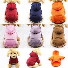 XS-2XL Pet köpek Hoodie Coat yumuşak polar sıcak köpek giysileri köpek kazak kış köpek giysileri küçük köpekler için Pet Shop sıcak satış yeni