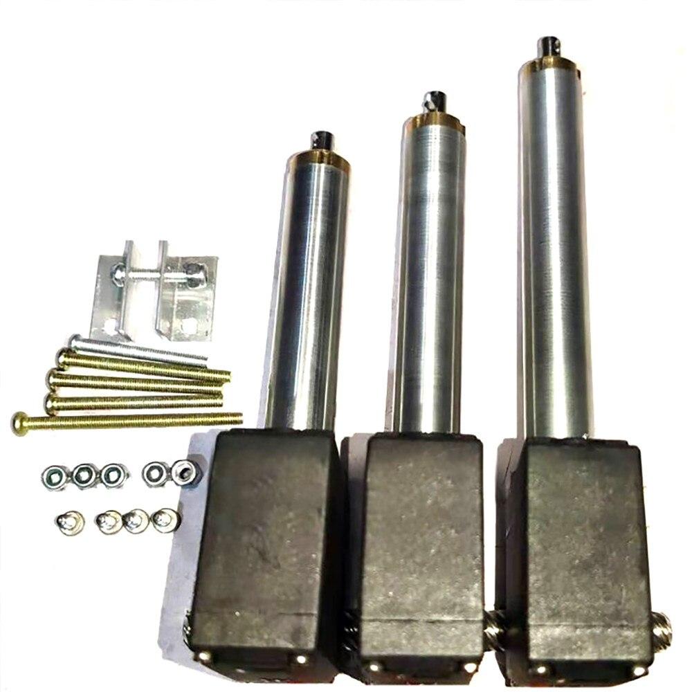 3PCS Upgrade Metal Arm Driving Rod Servo Part For HUINA 592 RC Crawler Car 22CH 1:14 1592 RC Alloy Excavator Metal Arm Parts
