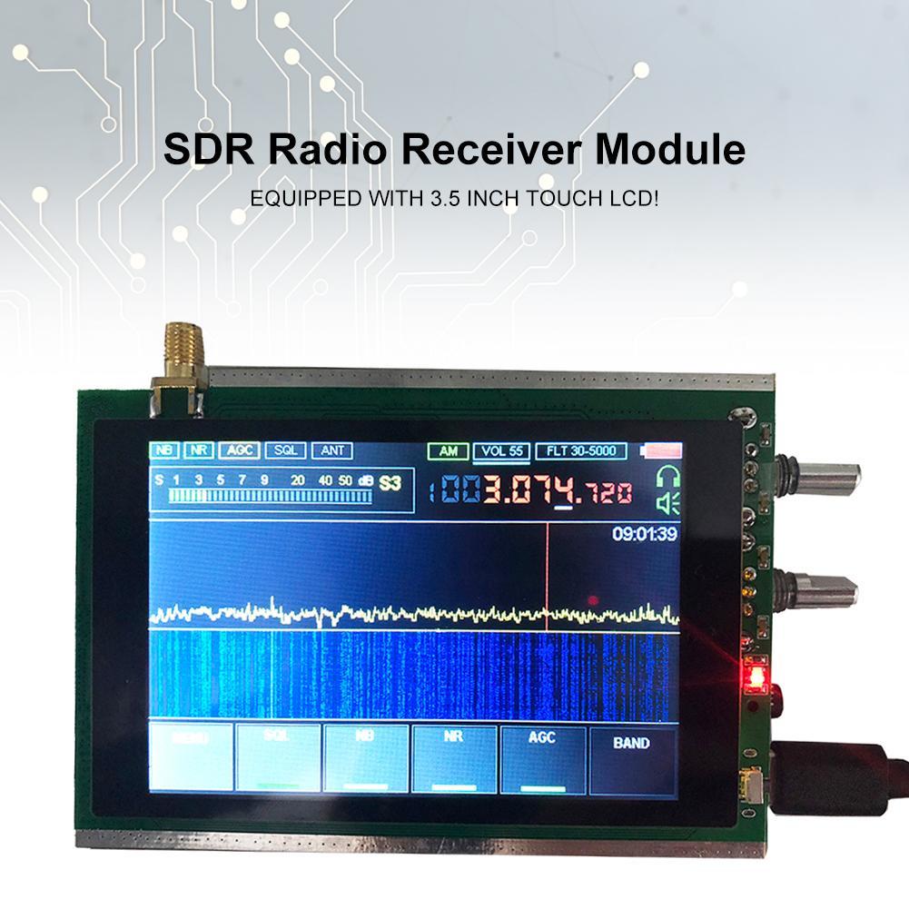 Nuevo módulo receptor de Radio SDR de 50Khz-200MHz sensible malaquita DSP SDR HAM receptor 3,5 pulgadas Touch LCD Stm32h743