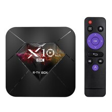Boîtier Smart TV X10 PLUS Allwinner H6 UHD 4K, Android R-TV, 9.0 p, décodage dimage 6K, WiFi, LAN 100M, H.265, écran LCD