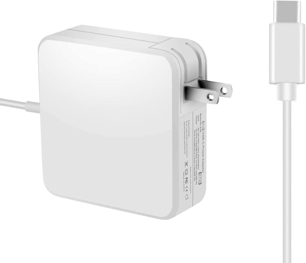 Cargador USB C de repuesto para adaptador de corriente 87W USB-C Compatible con MacBook Pro cargador 15 13 pulgadas portátil (Cable tipo C)