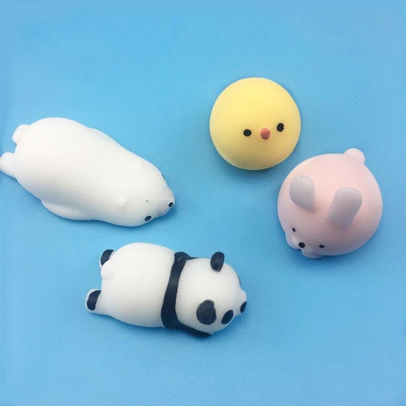 Bonito mochi mole 54 espécies foco macio cura diversão crianças kawaii brinquedo decoração animal tpr brinquedos noverty anti stress reliever m0137