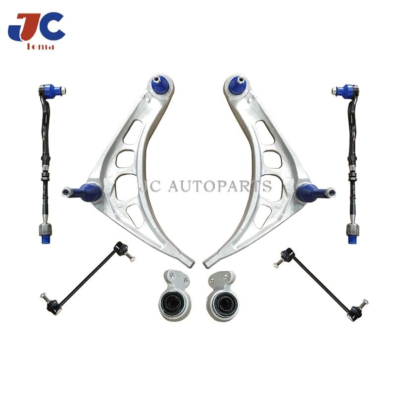 Control Arm kits use for BMW E46 318D 320D Auto suspension parts steering system tie rod control arm bushing (8 pcs per set)