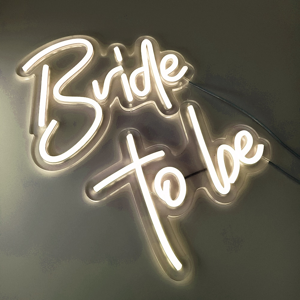 Custom Led Wedding/Happy Birthday Bride to Be Led Neon Sign Light for Wedding Party Bar Indoor Outdoor Decorative enlarge