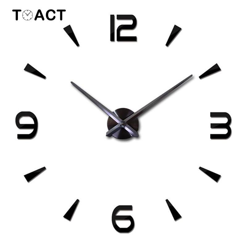 Reloj de pared 3D DIY, decoración del hogar, reloj, pegatina de pared, reloj silencioso, decoración de sala de estar de gran tamaño, regalo de diseño moderno