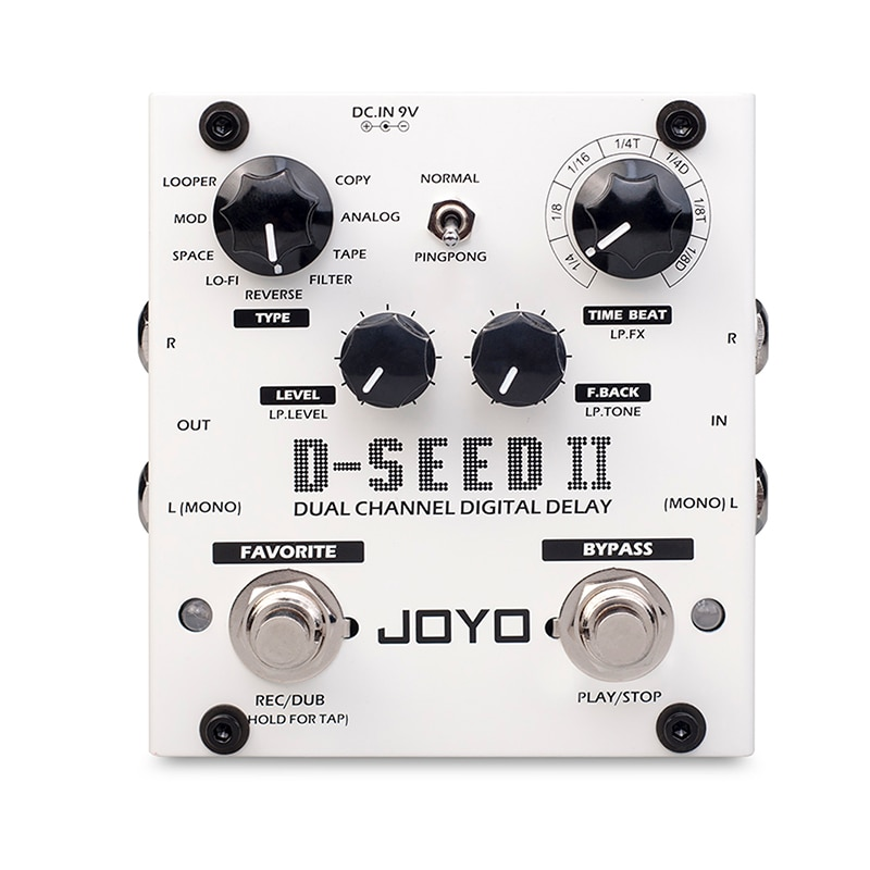 JOYO Digital Delay Pedal For Electric Guitar D-SEED-II Floor Multi Looper & Delay Guitar Effect Pedal Guitar Bass Accessories enlarge