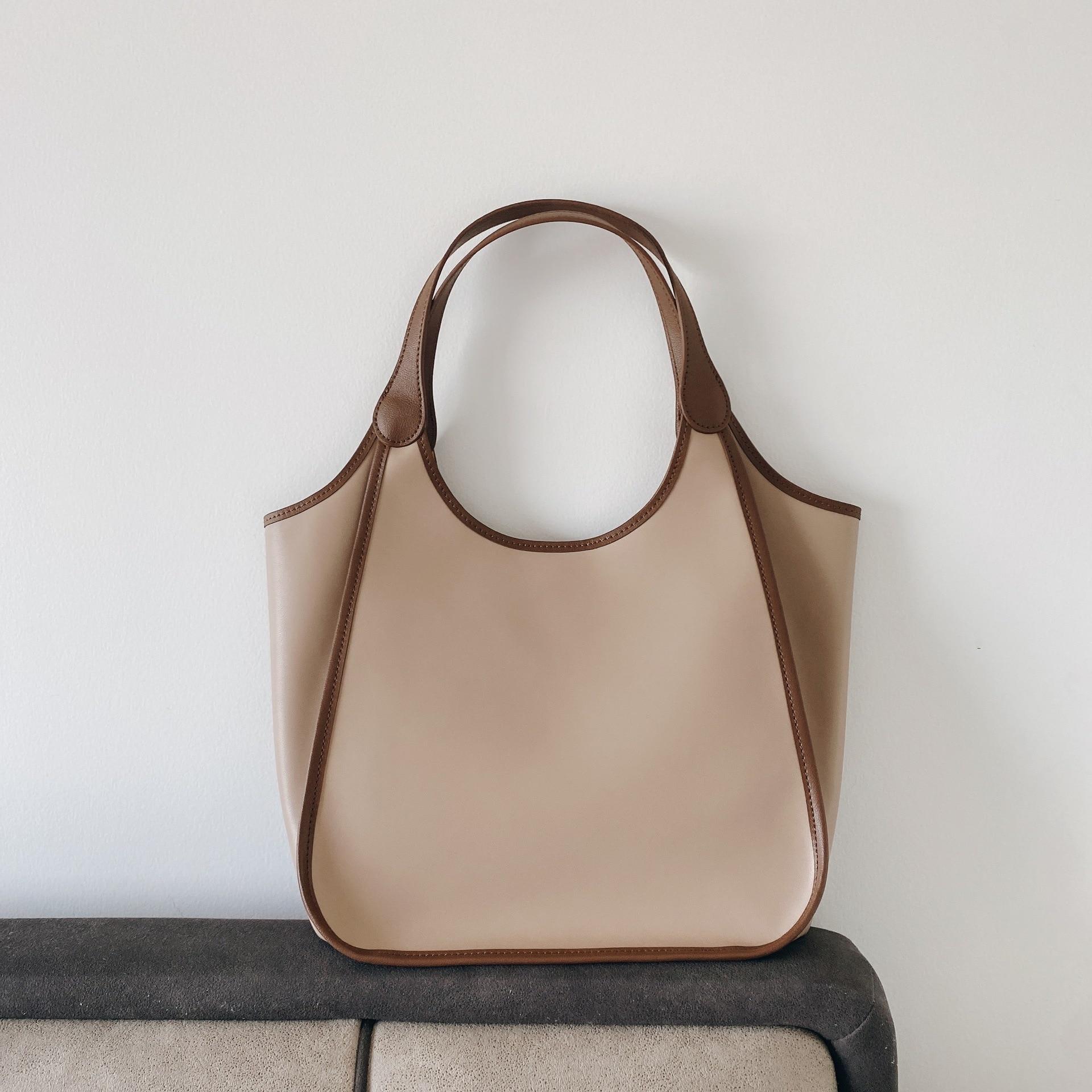 2021 Роскошные ручные сумки из натуральной кожи, женские ретро модные простые большие кошельки и сумки, Женская рабочая сумка-ведро