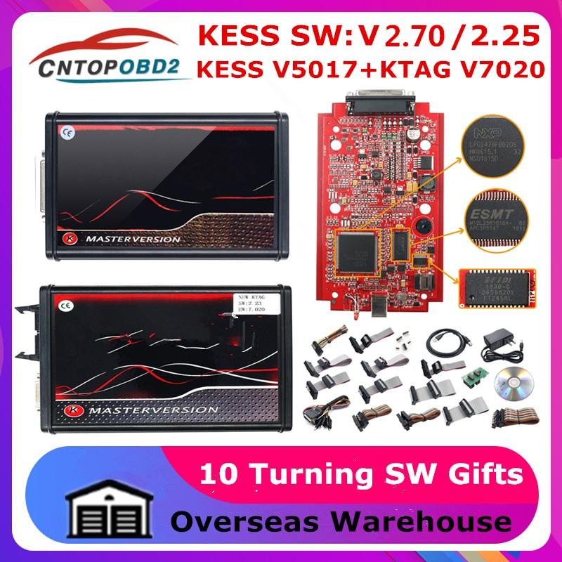 على الانترنت 2.80 الاتحاد الأوروبي الأحمر KESS V5.017 OBD2 مدير ضبط عدة KTAG V7.020 4 LED النسخة الرئيسية على الانترنت K-TAG 2.25 OBD2 مبرمج أداة