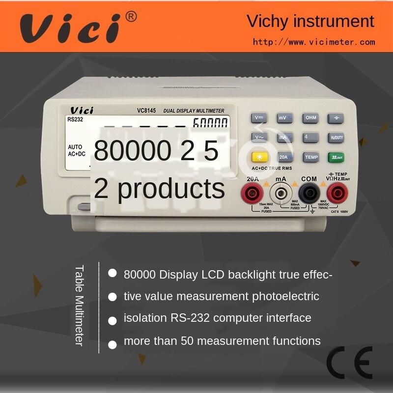 Multímetro digital de escritorio multifuncional de alta precisión VC8145, verdadero valor efectivo con interfaz de ordenador