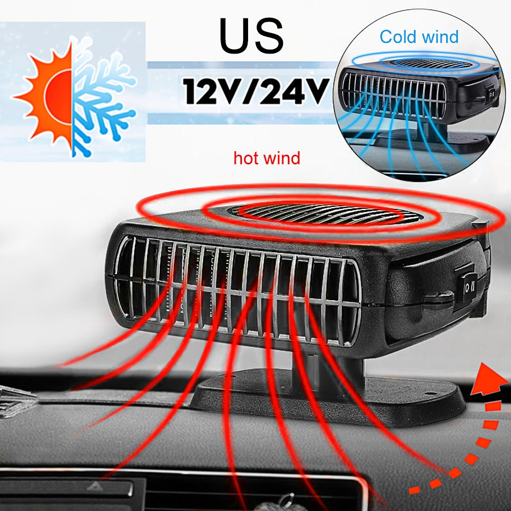 Portable Auto Car Heater Heating Defroster Electric Fan Heater Heating Windshield Defroster demister 12V/24V Car Accessories