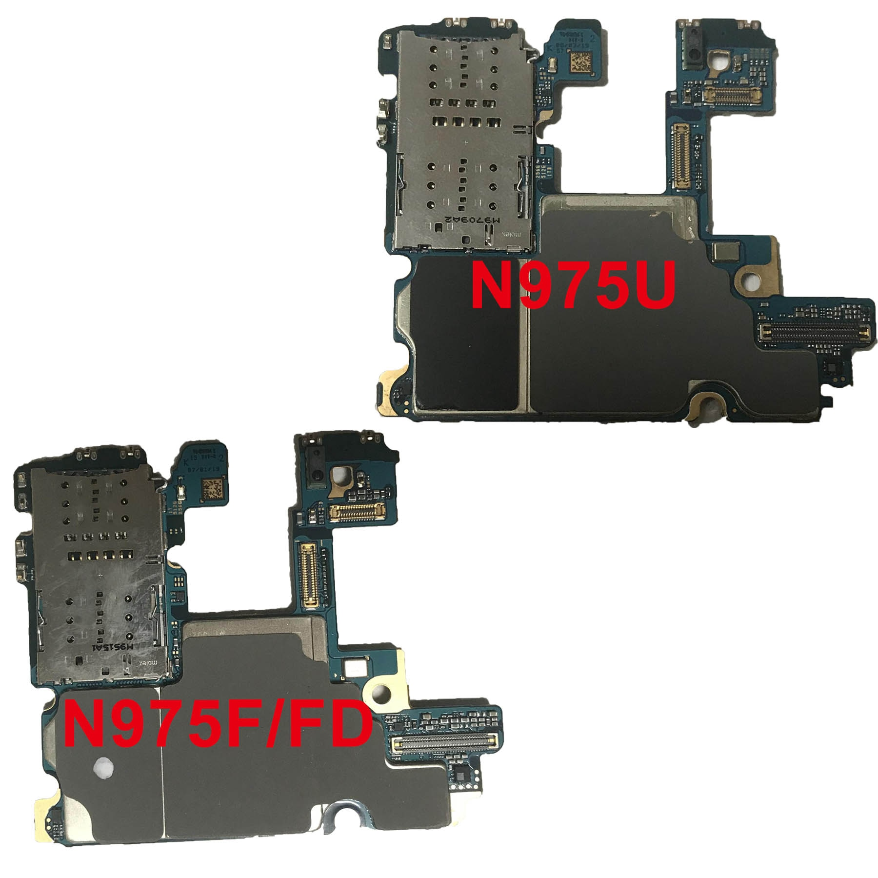 Original Motherboard For Samsung Galaxy Note 10 Plus N975F N975U N976B 5G N970U N970F 256G 512G Dual Sim Logic Board Unlocked enlarge