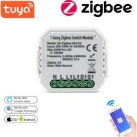 Module de commutation intelligent Tuya WiFi Zigbee-S05-LN EU UK  application de controle  Version zero feu  dispositif marche-arret  fonctionne avec Alexa Google Home