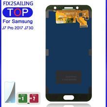 5.5 display display display para samsung galaxy j7 pro j730 lcd para samsung j7 2017 display toque digitador da tela j730f ajustável