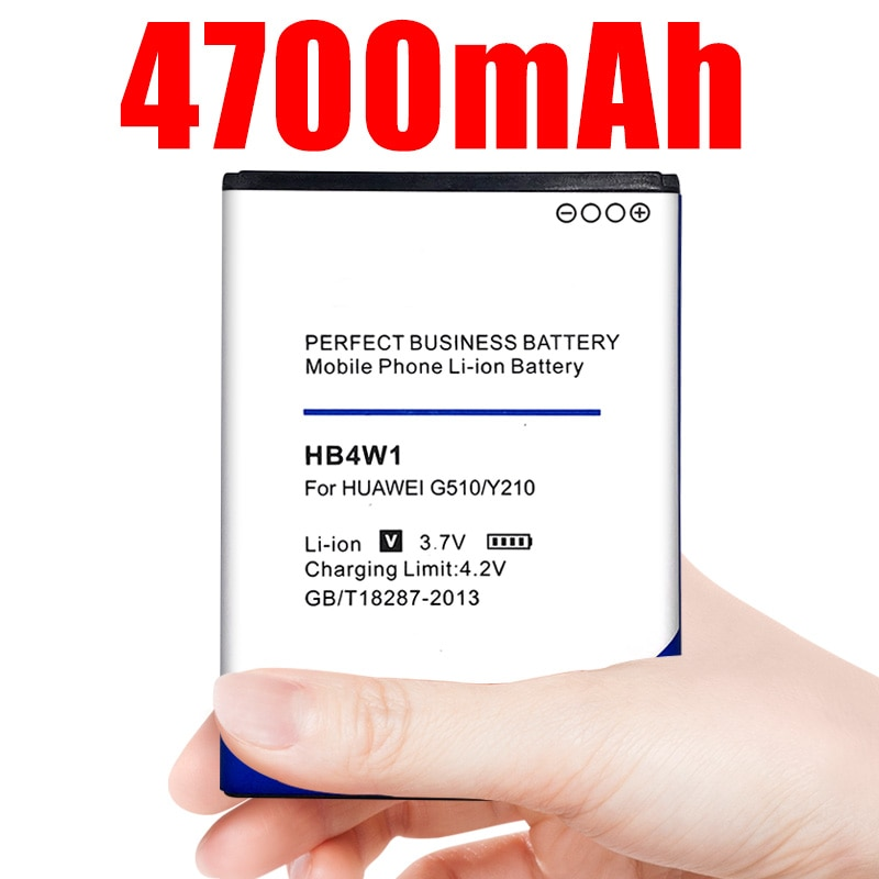 Batería de teléfono HB4W1 HB4W1H 3,7 V 4700mAh para Huawei G510 T8951 U8951d C8951 C8813 C8813D Y210 Y210C G520