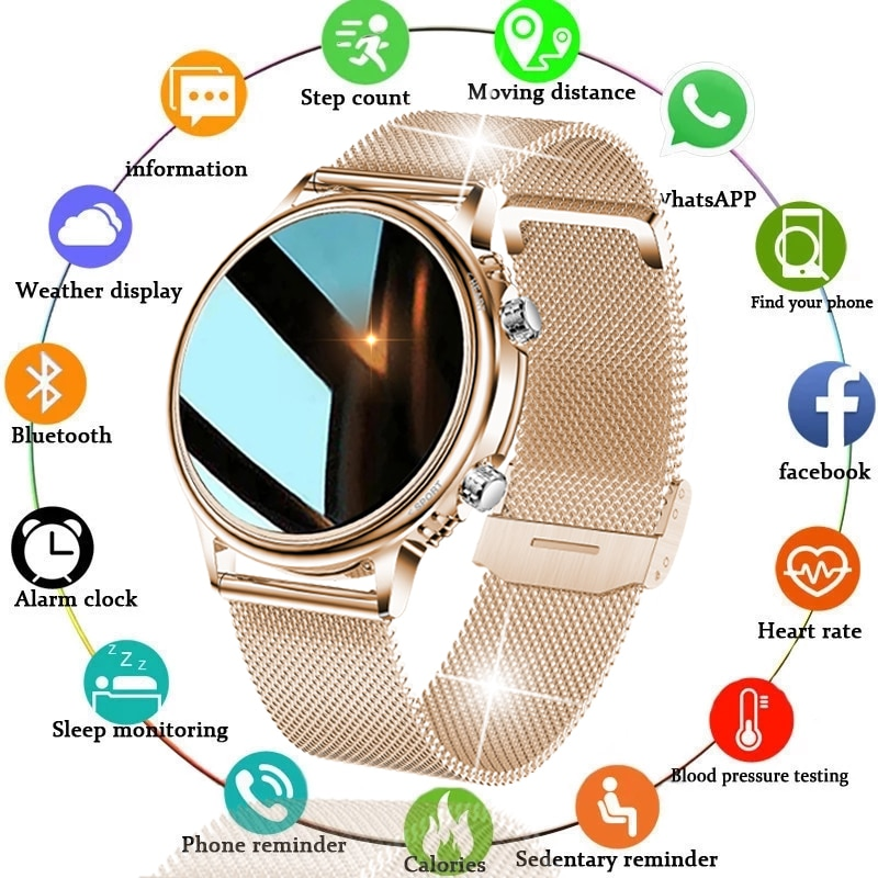LIGE 2021 الفاخرة جديد ساعة ذكية النساء الرجال اللون شاشة تعمل باللمس الكامل جهاز تعقب للياقة البدنية الذكية مقاوم للماء ساعة السيدات SmartWatch الرج...