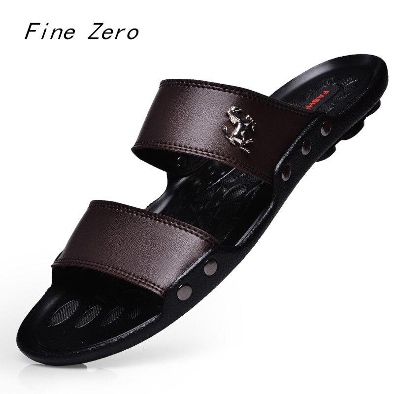 Zapatos de moda de verano para hombre, sandalias para hombre, zapatillas de playa, sandalias de marca de lujo para hombre, zapatos casuales, zapatillas negras para hombre