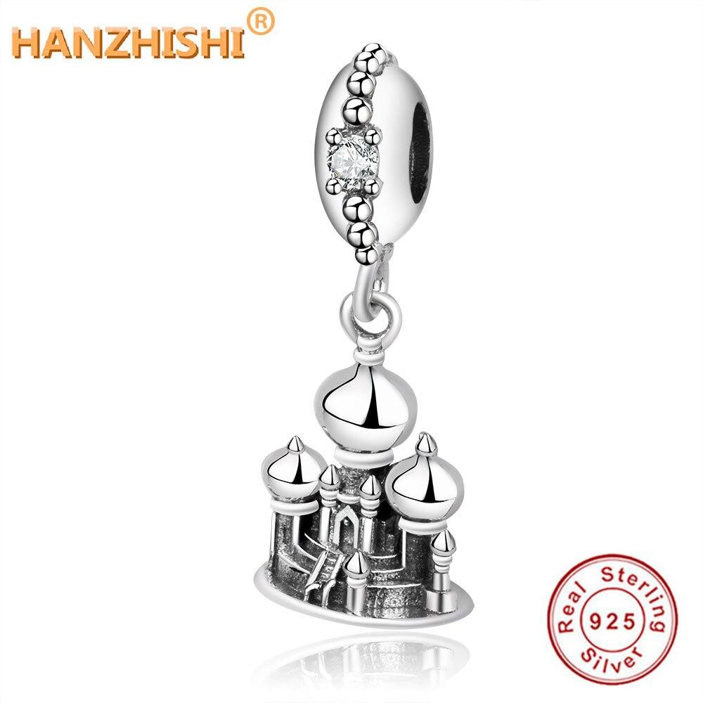 Оригинальный браслет Pandora из стерлингового серебра 925 пробы Аладдин аграба замок Висячие Очаровательные бусы для женщин DIY ювелирные изделия подарок